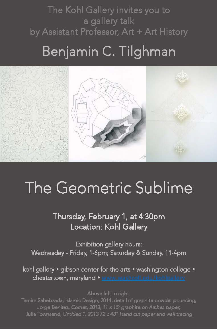 Kohl Gallery Talk: The Geometric Sublime
