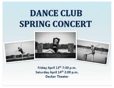 Washington College Dance Club Concert
