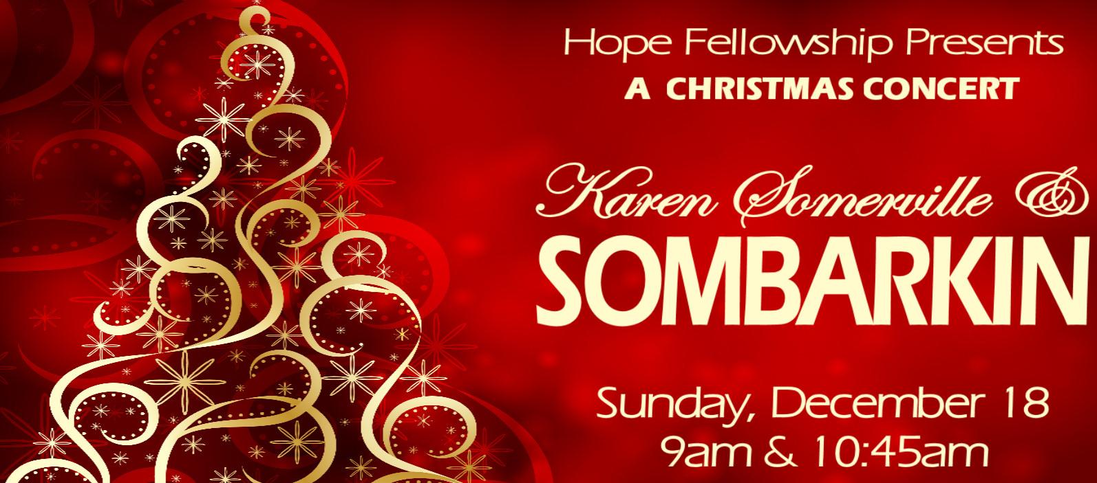 "A Christmas Concert:  Karen Somerville & Sombarkin"""