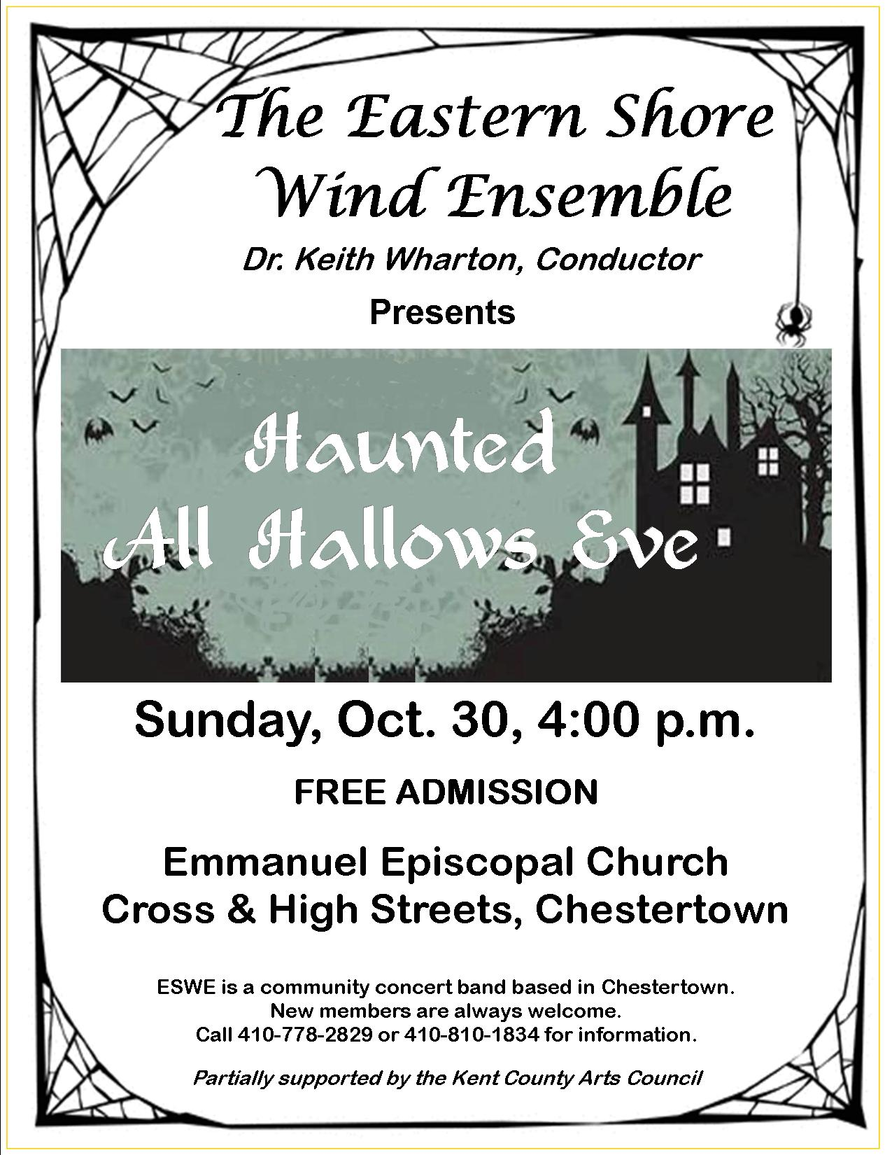 """Haunted All Hallows Eve"": Free Band Concert by the Eastern Shore Wind Ensemble"