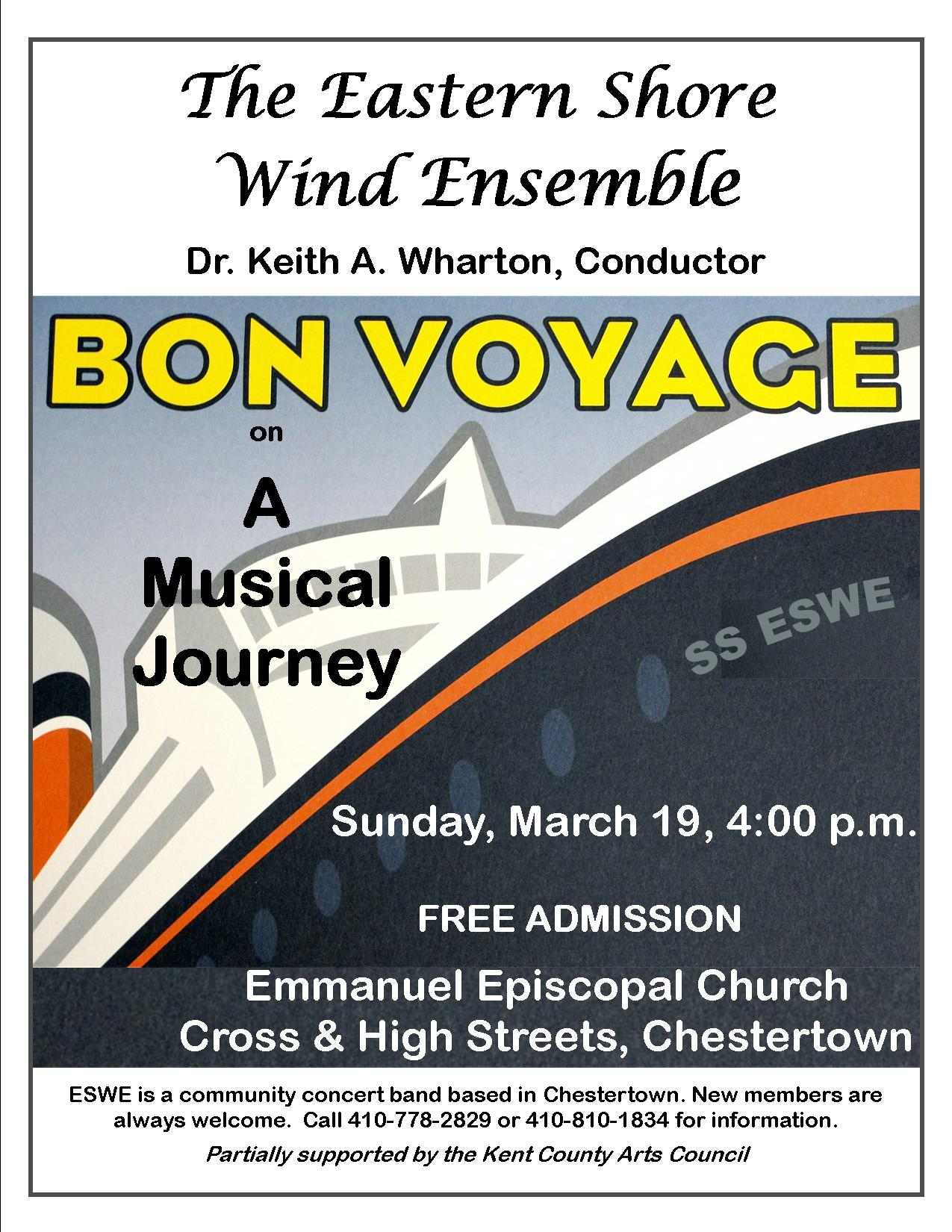 A Musical Journey: Free Band Concert by the Eastern Shore Wind Ensemble
