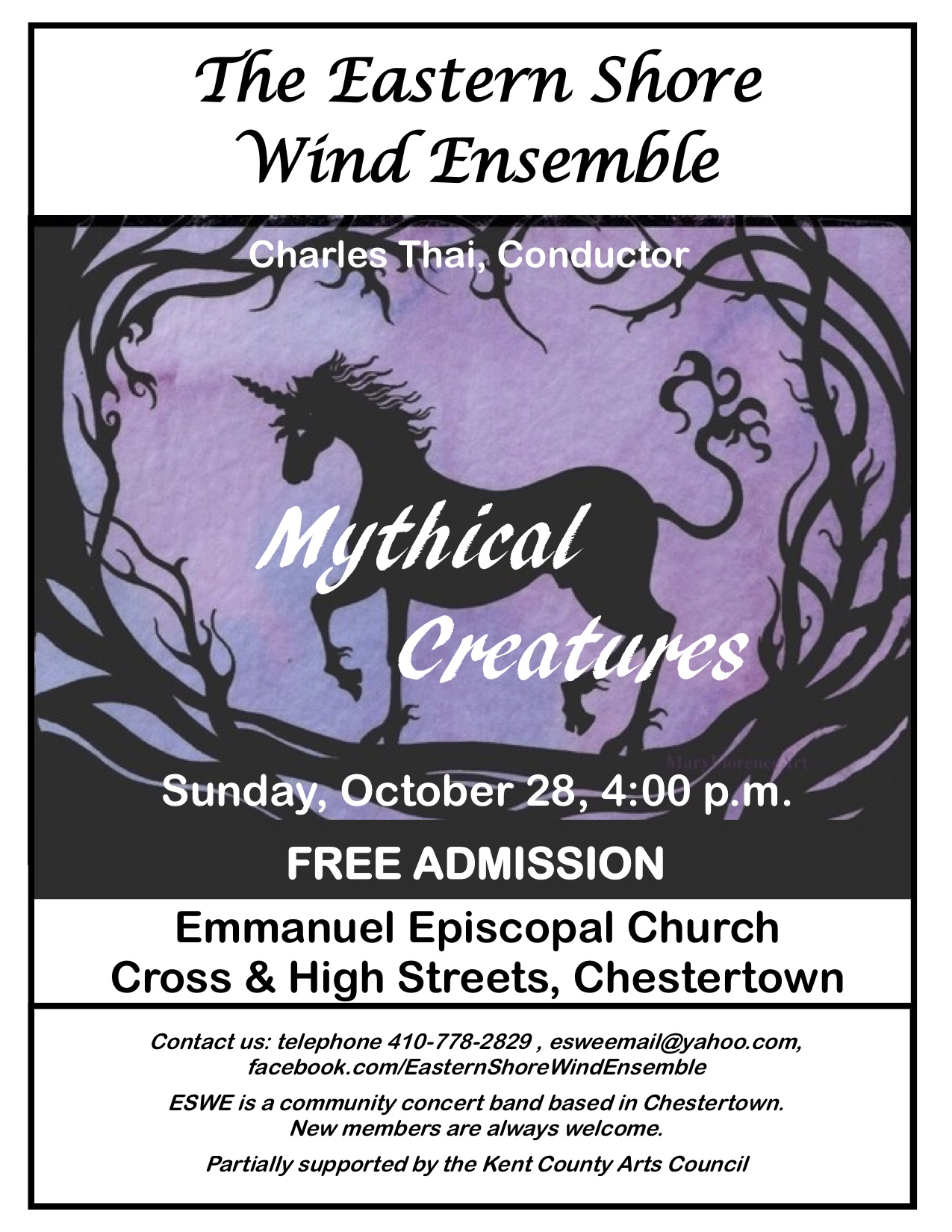 Free Band Concert by Eastern Shore Wind Ensemble: Mythical Creatures