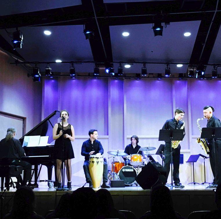 Mainstay Monday: Joe Holt on piano welcomes The Washington College Jazz Combo