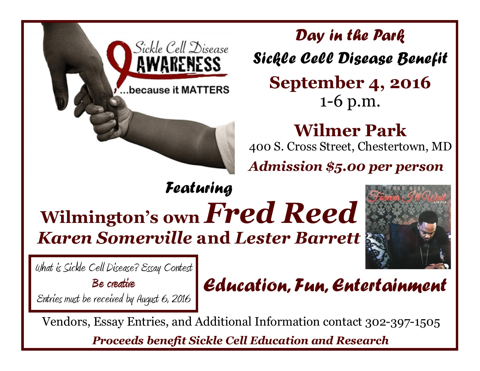 DAY IN THE PARK FOR SICKLE CELL DISEASE