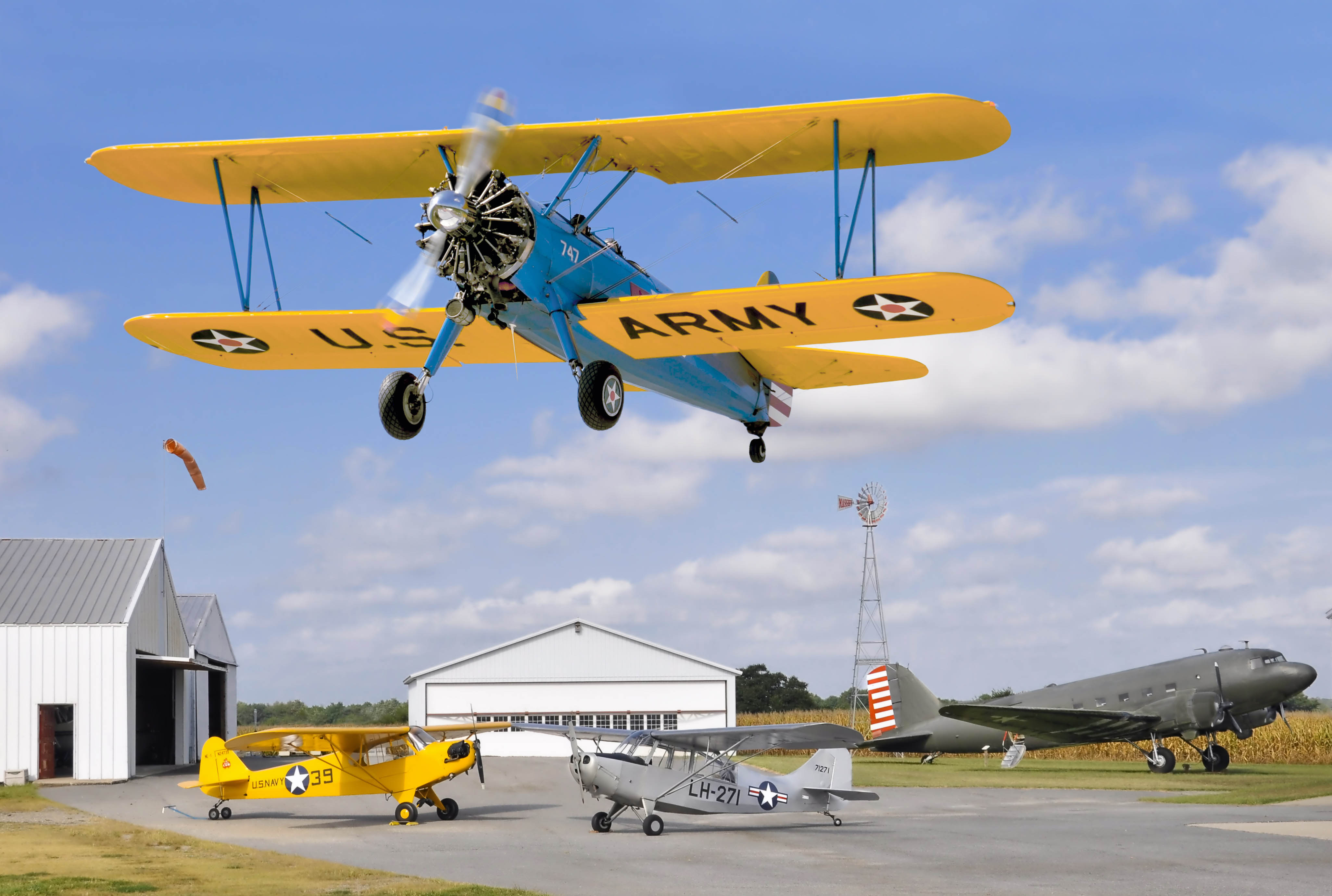 Antique Airplane Fly-In at Massey Aerodrome