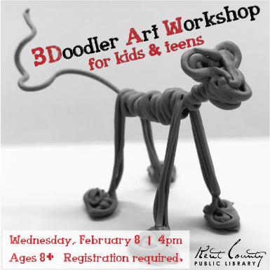 3Doodler Art Workshop for Kids & Teens