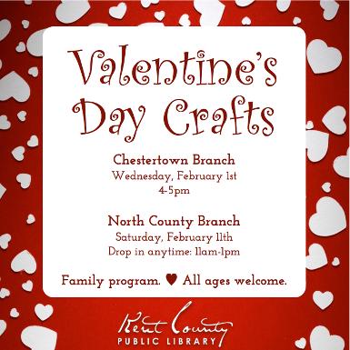 Drop-In Valentine Day Crafts
