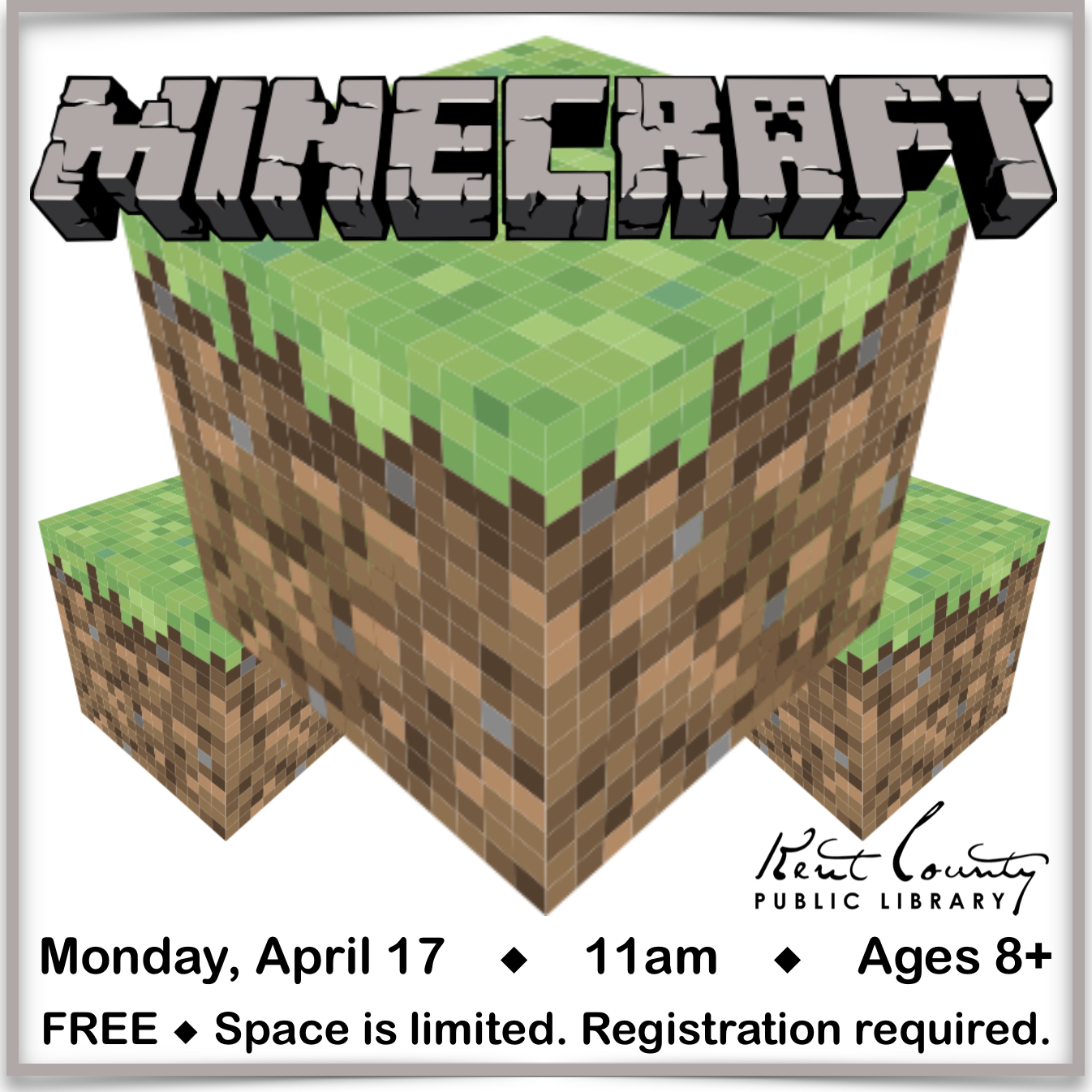 Minecraft at the library