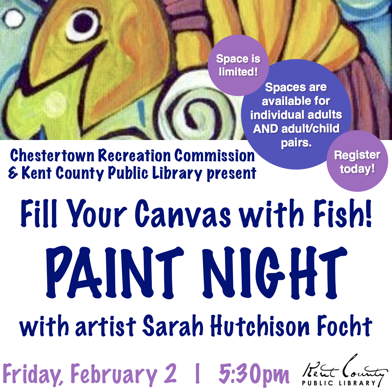 Paint Night - Fill Your Canvas with Fish!