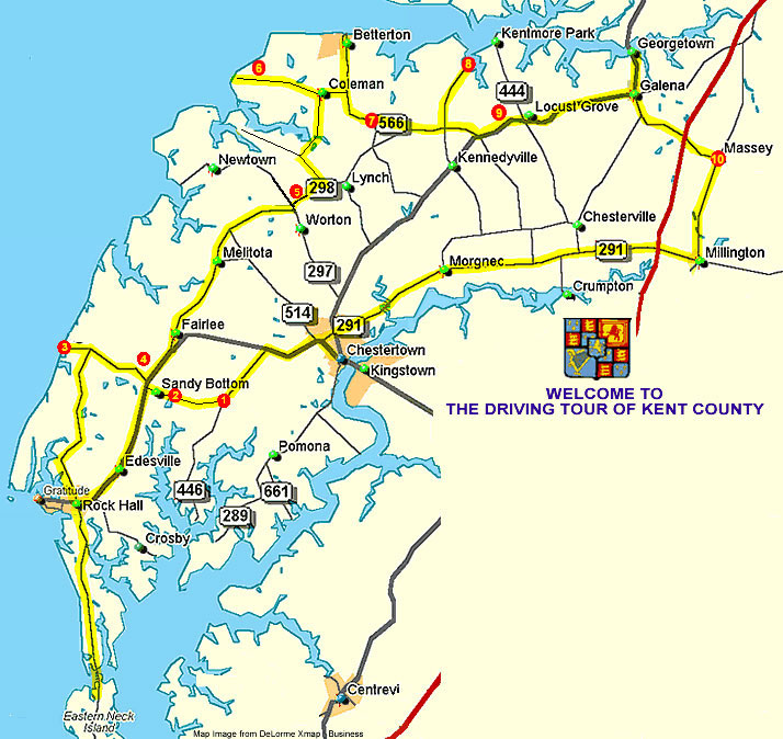 Self Guided Driving Tours Kent County Maryland - Maryland printable map