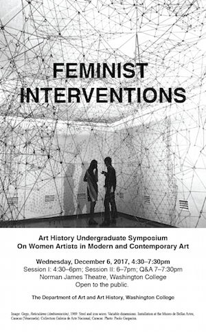 FEMINIST INTERVENTIONS: Art History Undergraduate Symposium on Women Artists in Modern and Contempor