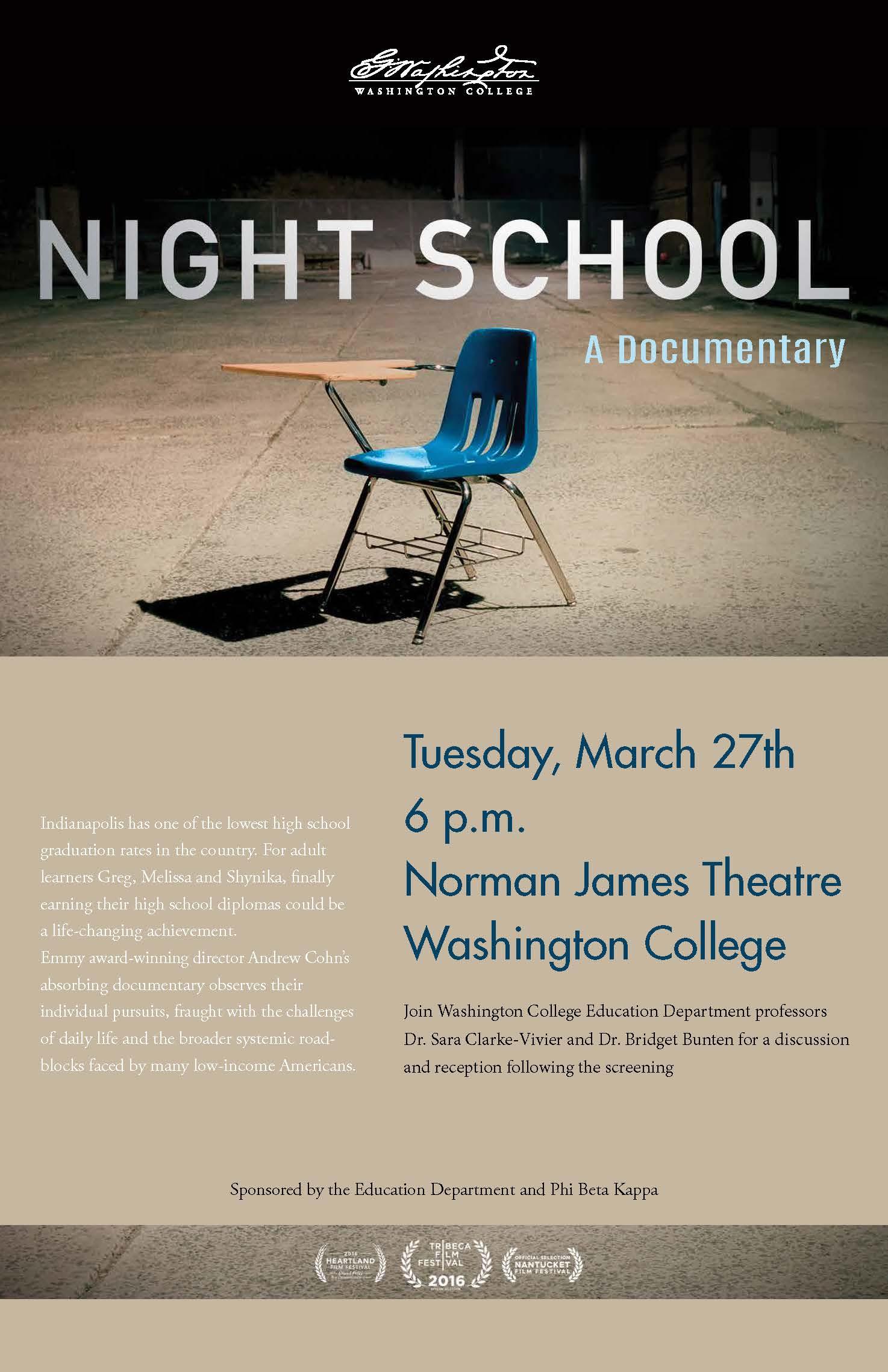 Documentary Screening: Night School