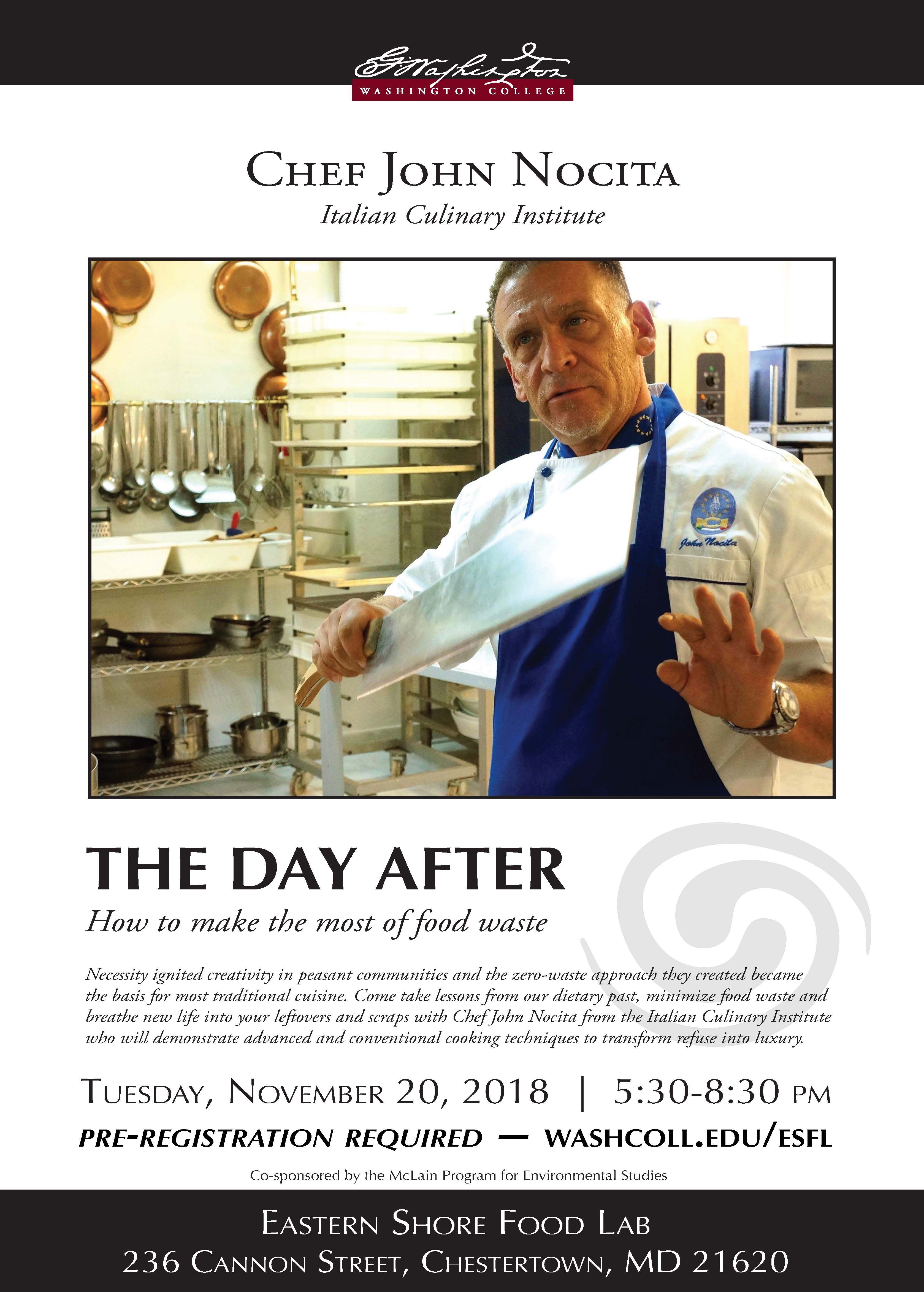 """The Day After: how to make the most of food waste"" A Talk by Chef John Nocita"