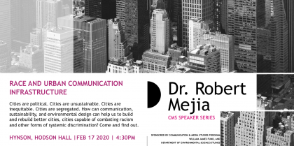 Communications and Media Studies Lecture: Race and Urban Communication Infrastructure