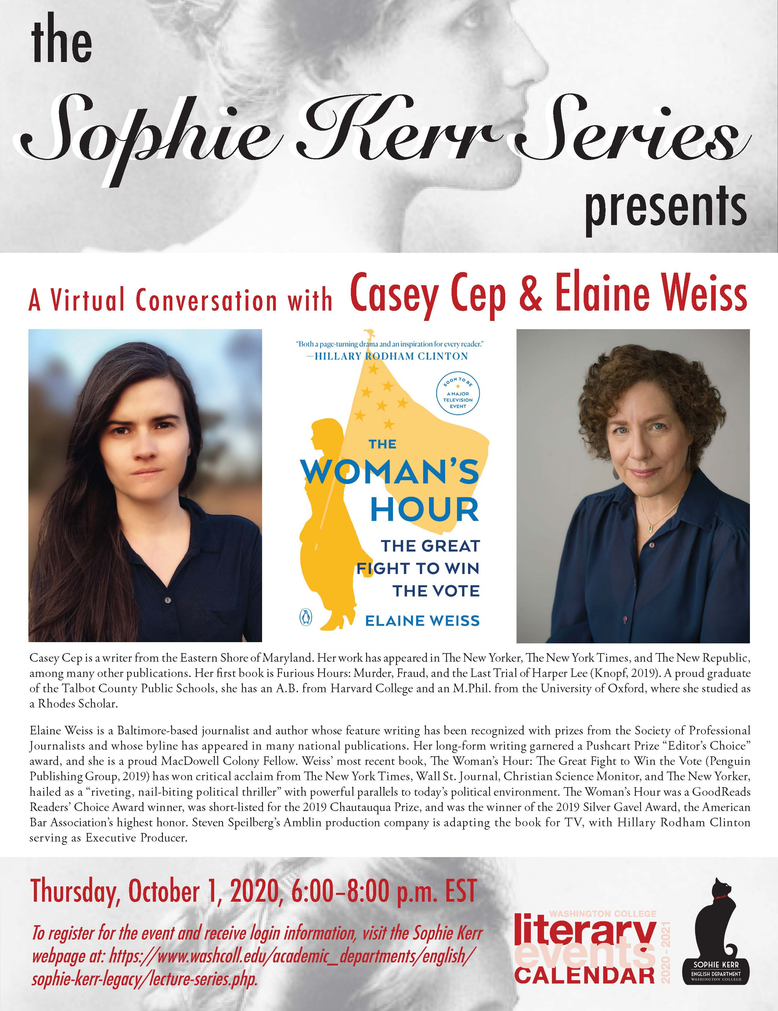 The Sophie Kerr Program Presents: A Conversation with Casey Cep and Elaine Weiss