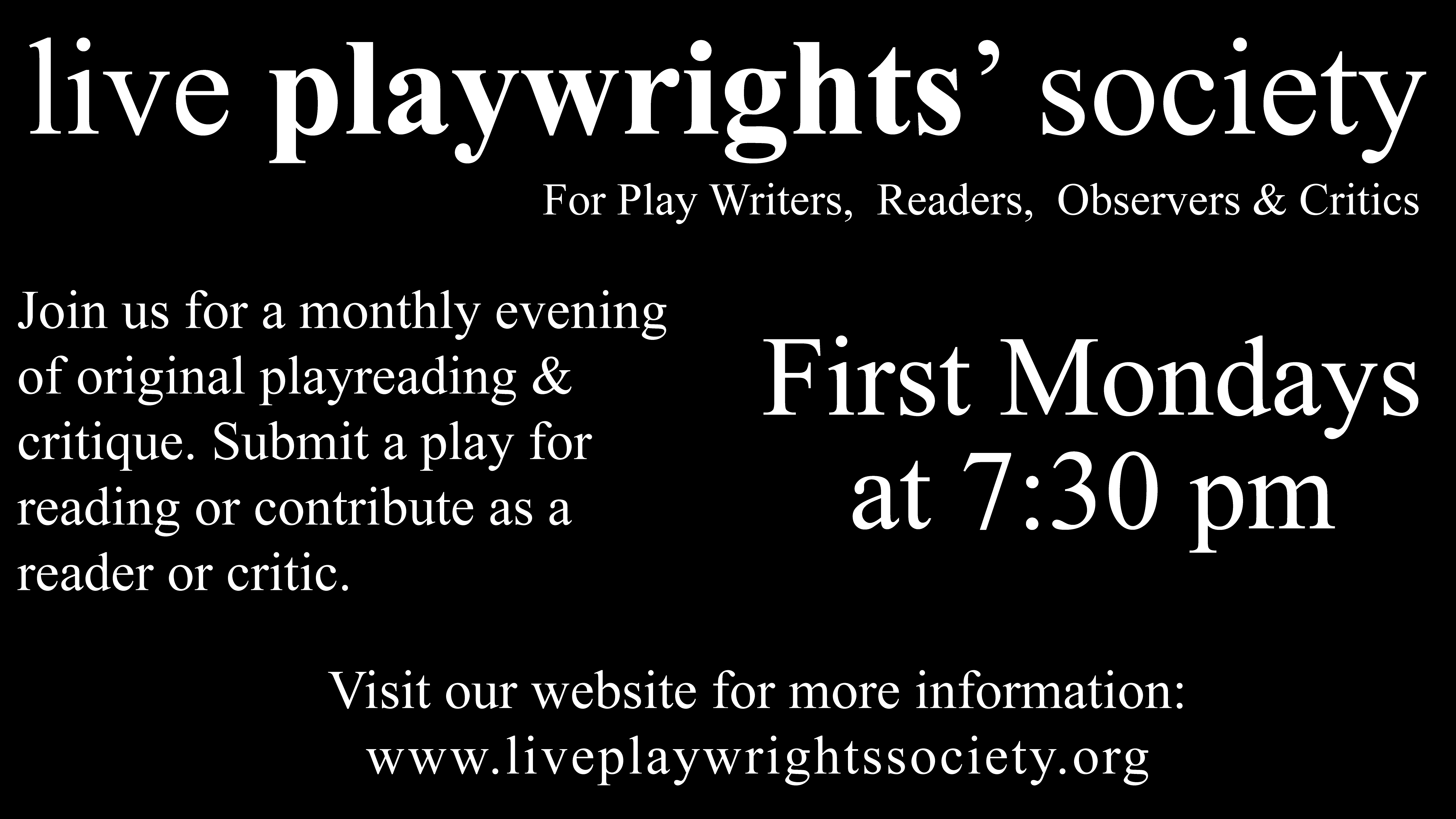 Live Playwrights' Society at the Garfield