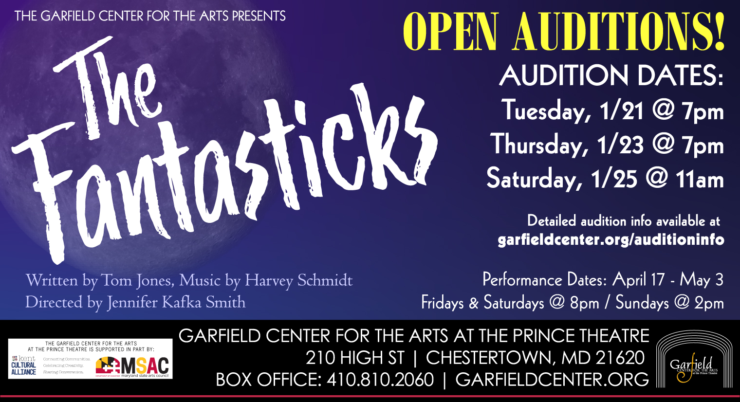 Open auditions for The Fantasticks at the Garfield