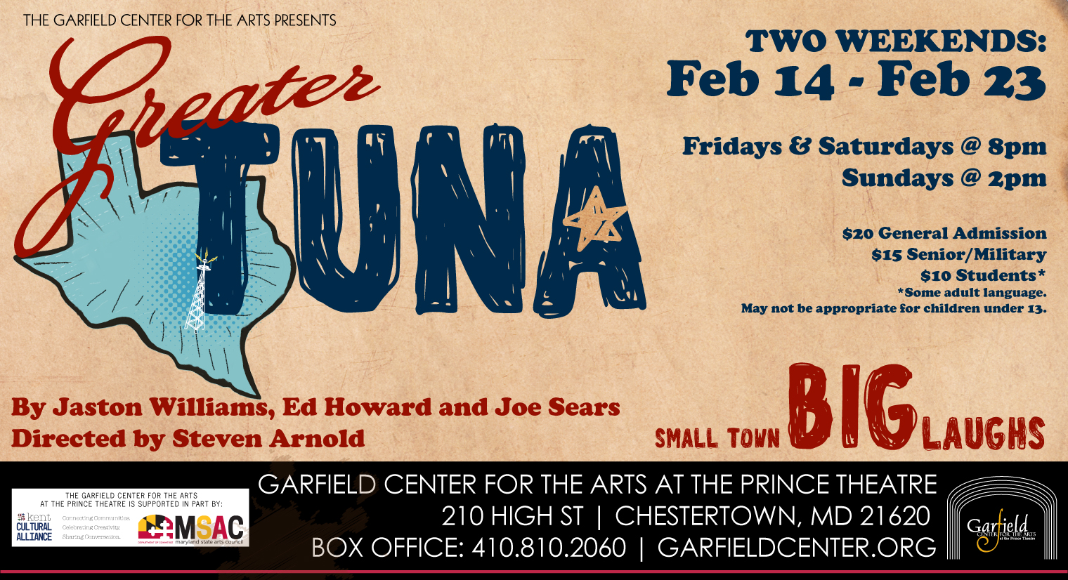 The Garfield Center presents Greater Tuna