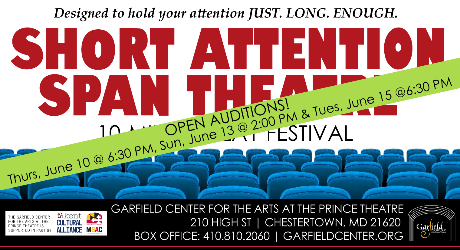 OPEN AUDITIONS for Short Attention Span Theatre