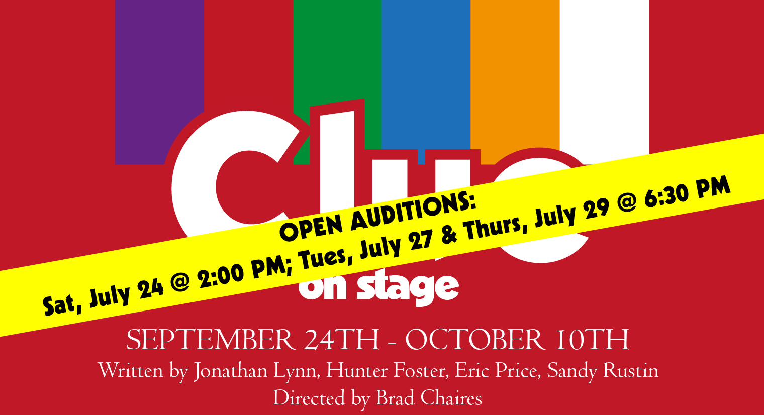 GCA presents Clue: On Stage - OPEN AUDITIONS