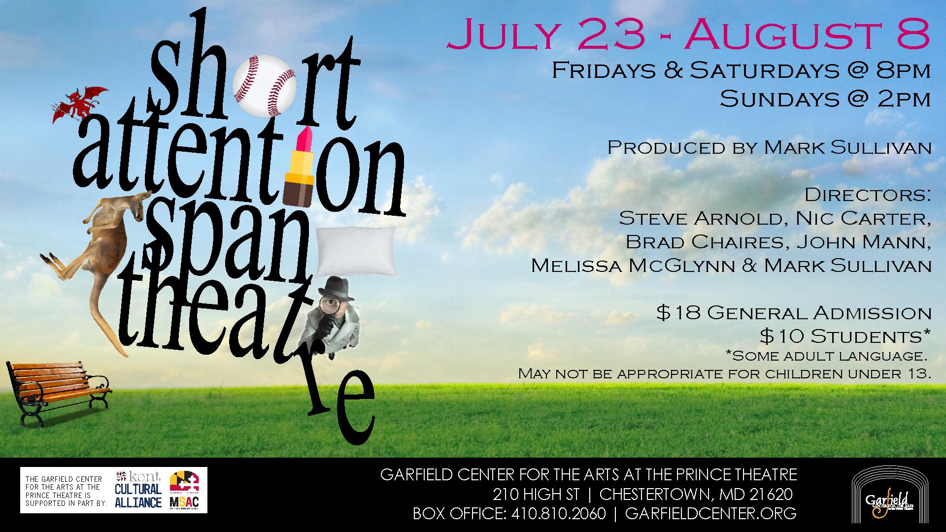 The Garfield Center presents Short Attention Span Theatre