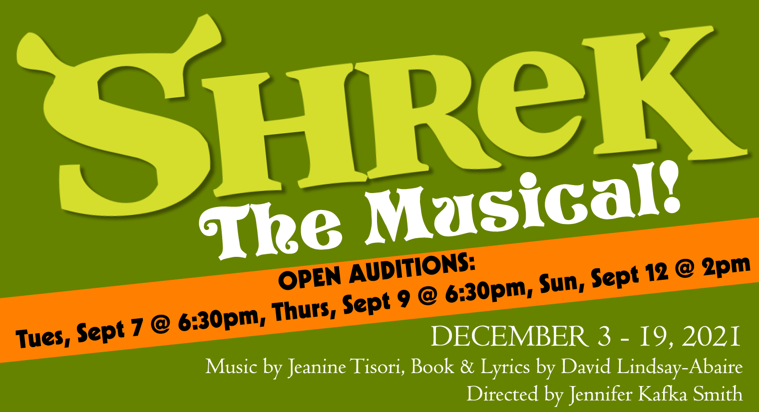 OPEN AUDITIONS for Shrek: The Musical at the Garfield