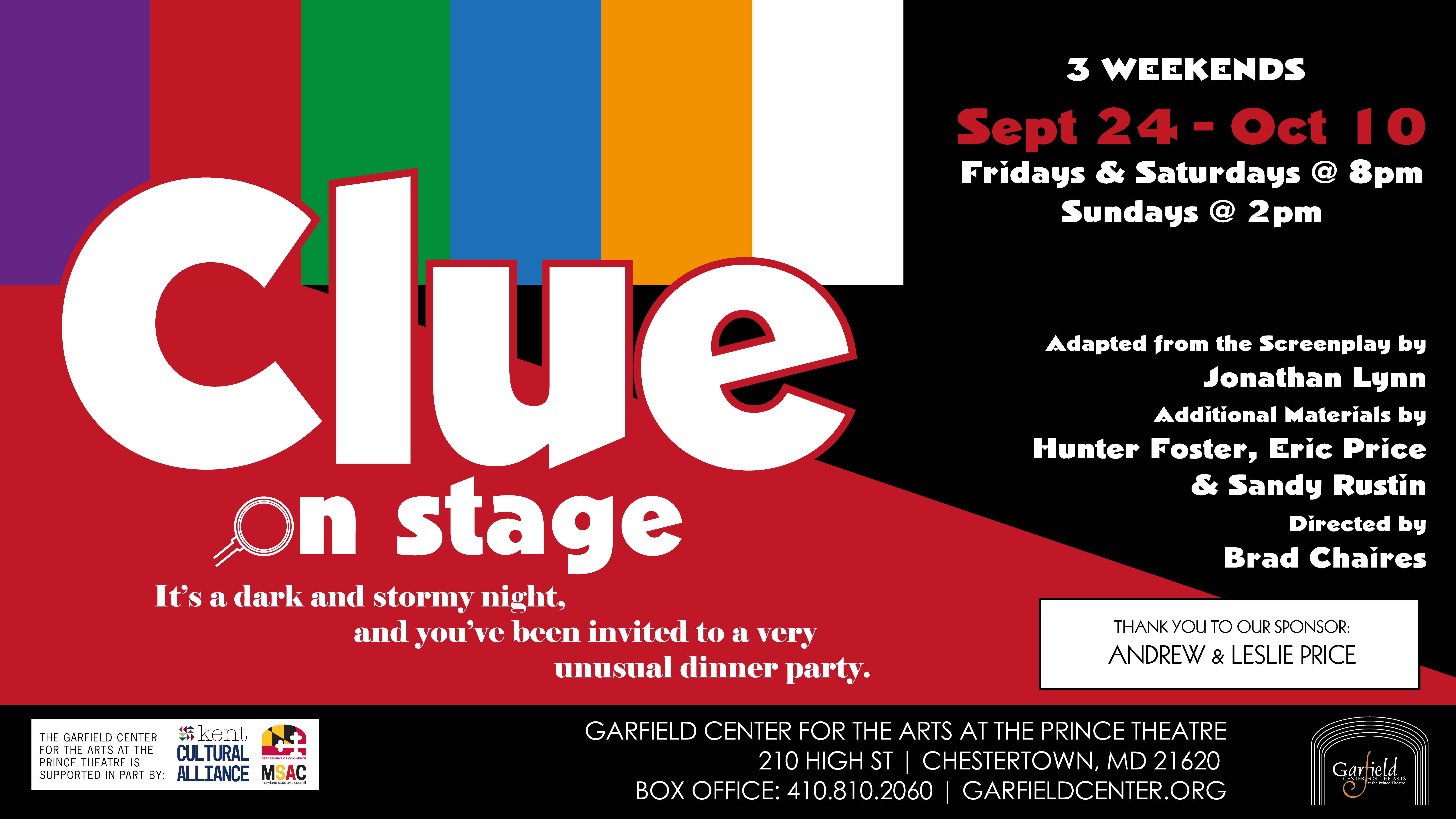 The Garfield Center presents Clue: On Stage