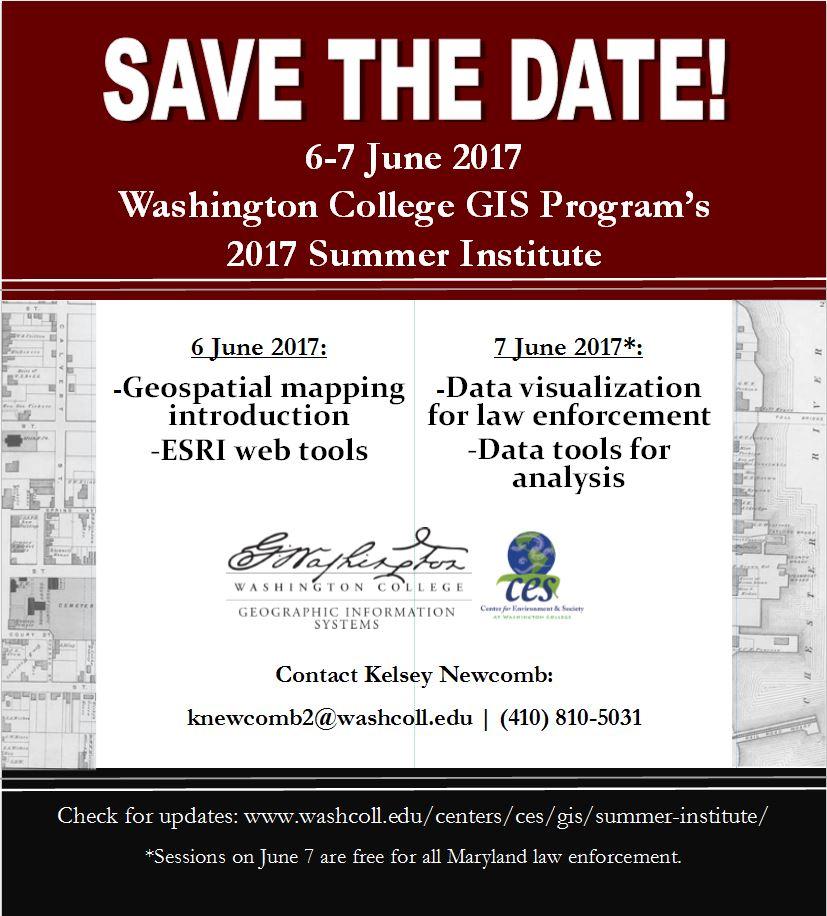 GIS training: Summer Institute