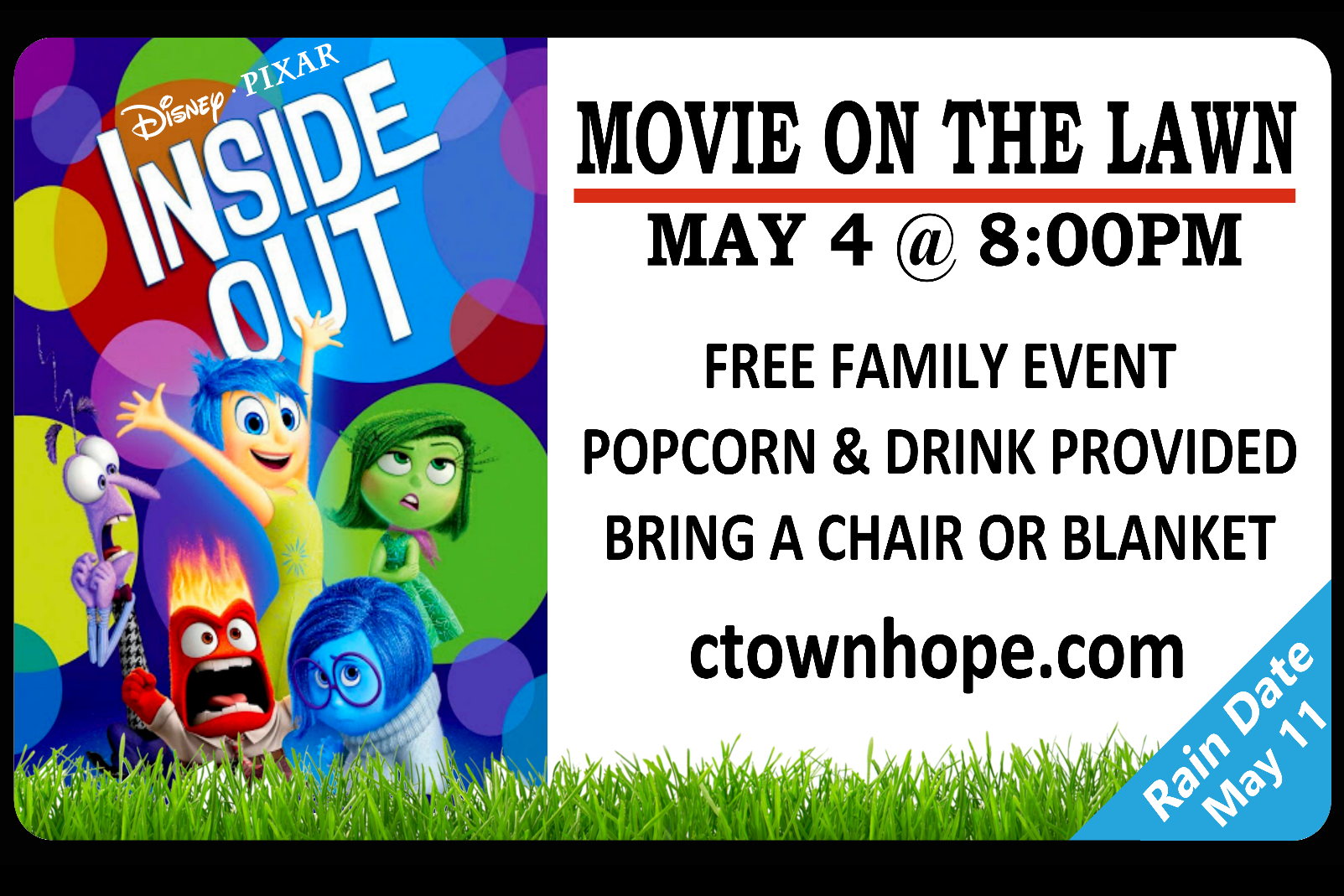 Movie on the Lawn:  Inside Out