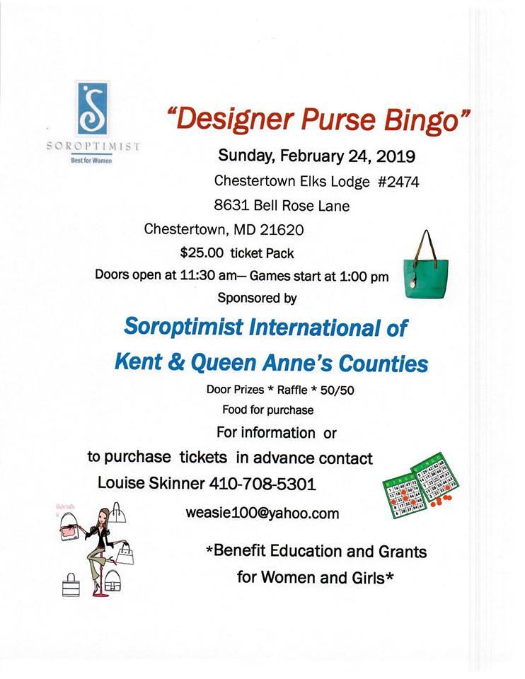 S I Kent & QA Co Designer Purse Bingo
