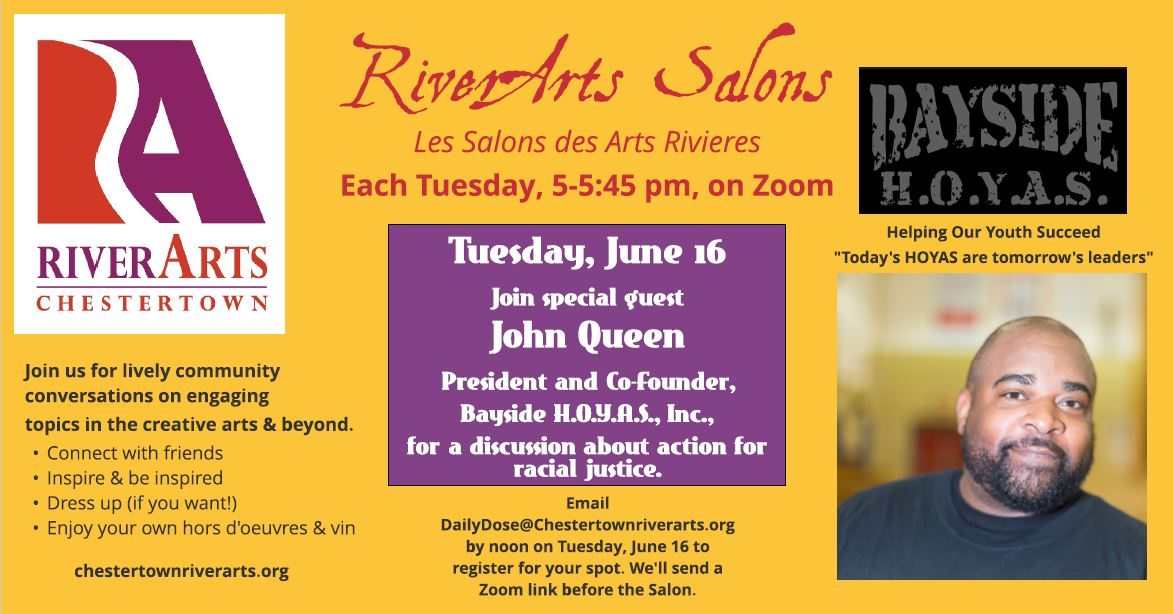 RiverArts Salon with John Queen