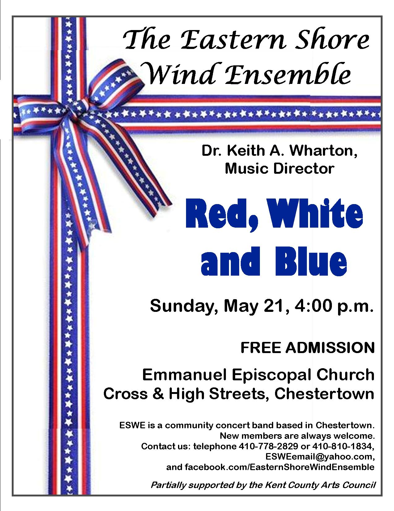 Red, White, & Blue: Free Band Concert by the Eastern Shore Wind Ensemble