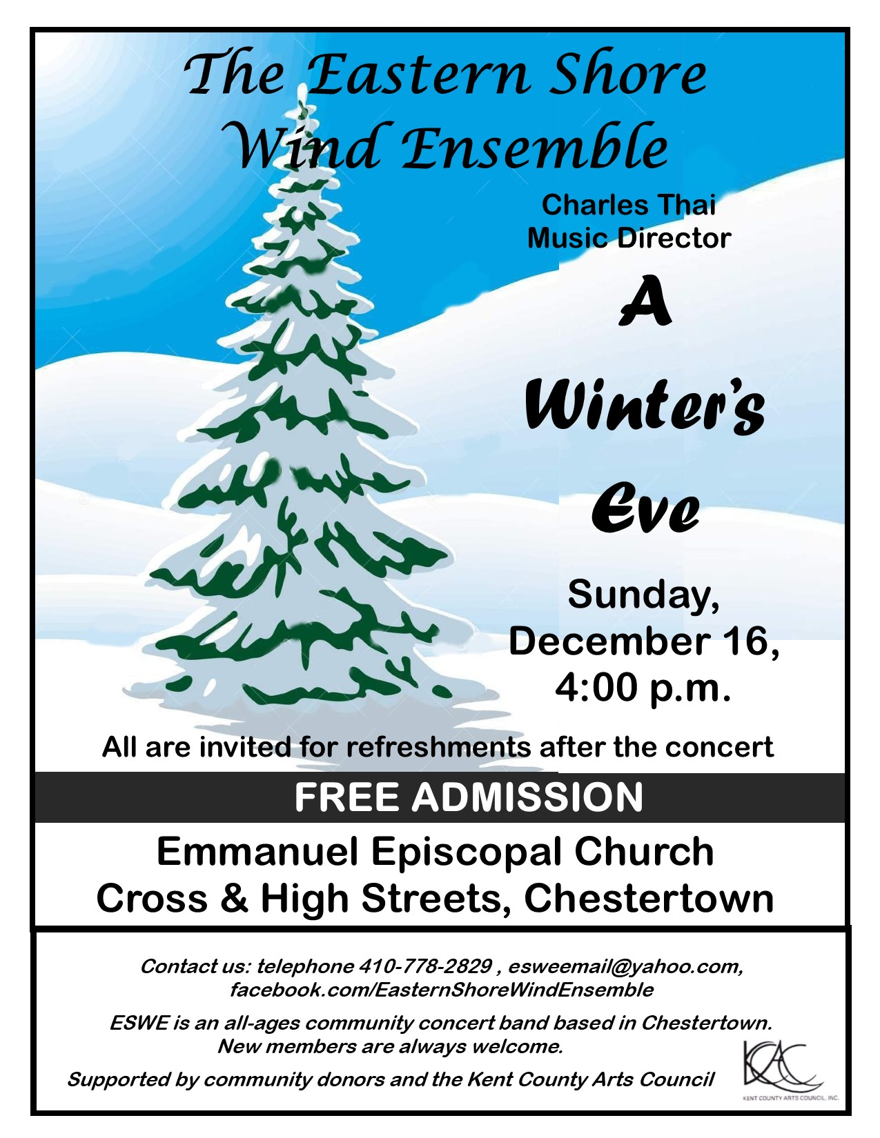 A Winter's Eve: Free Band Concert by the Eastern Shore Wind Ensemble