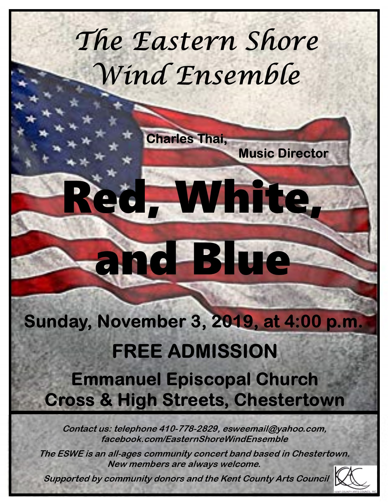 Red, White, and Blue: A Free Band Concert by the Eastern Shore Wind Ensemble