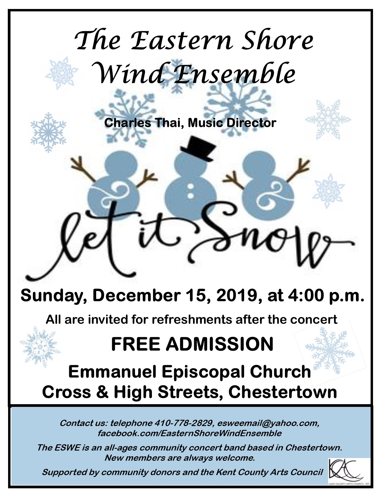 """Let It Snow!"" - Free Band Concert by Eastern Shore Wind Ensemble"
