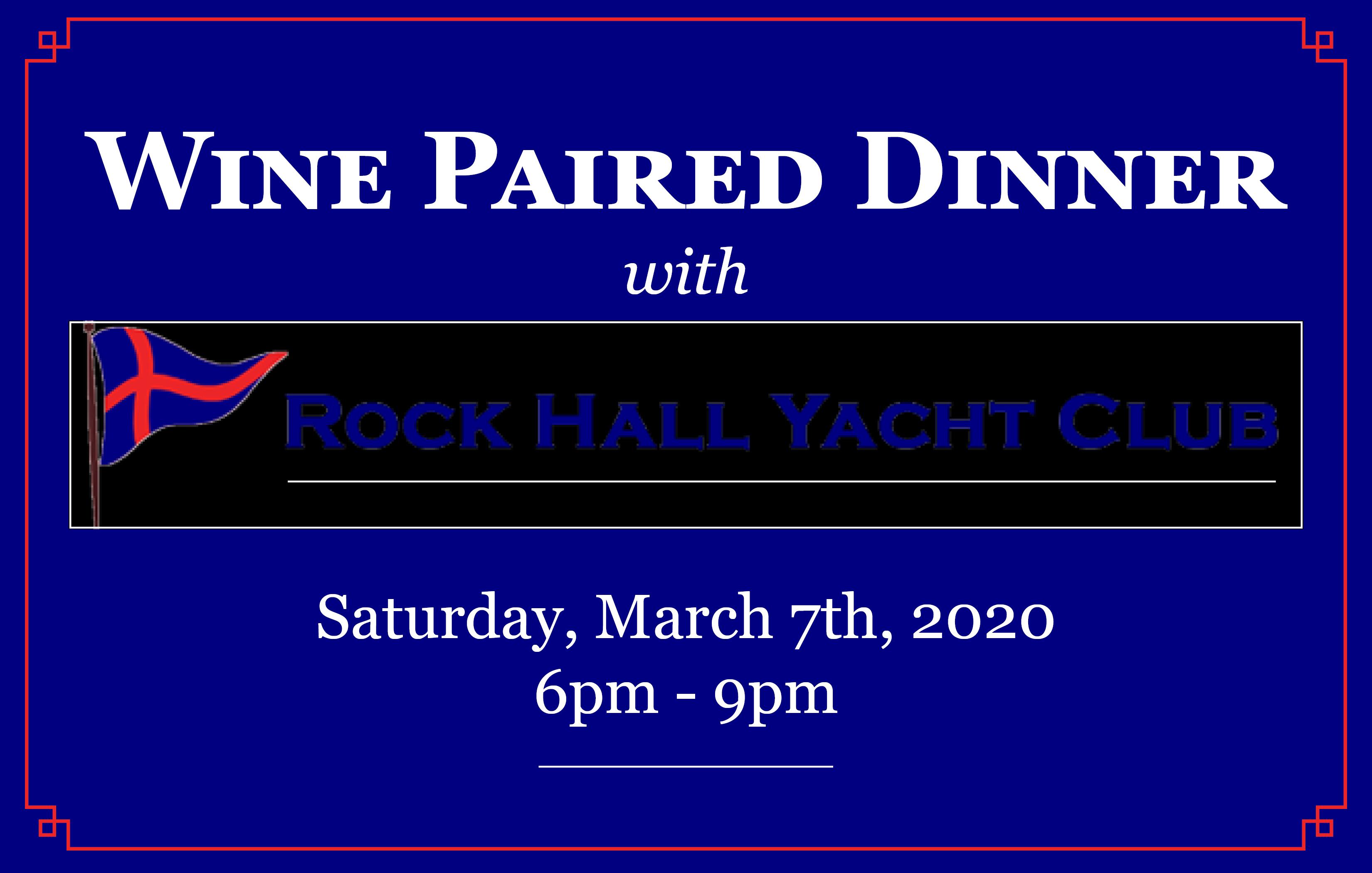 Wine Dinner with Rock Hall Yacht Club
