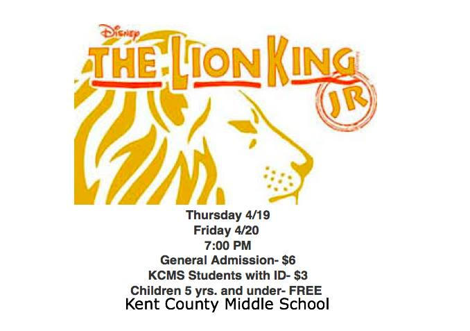"KCMS presents ""The Lion King, Jr."""