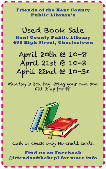 Friends of the Kent County Public Library Semi-Annual Book Sale