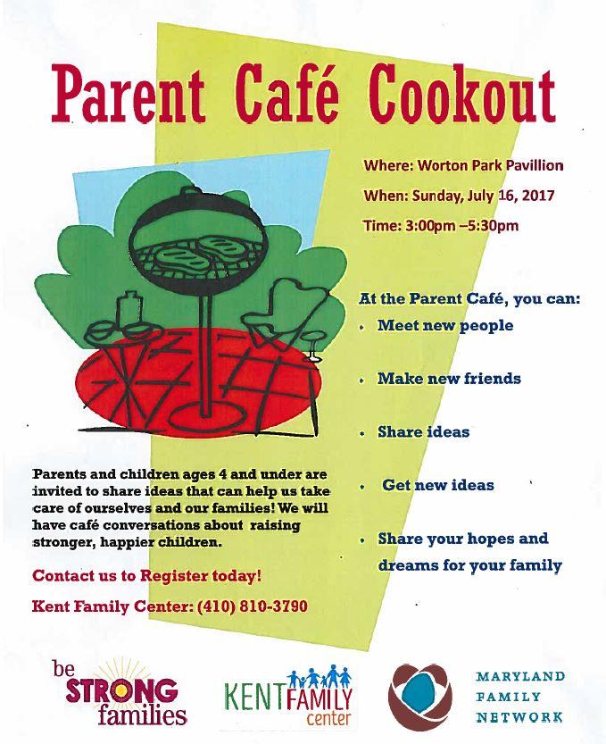 Parent Cafe Cookout