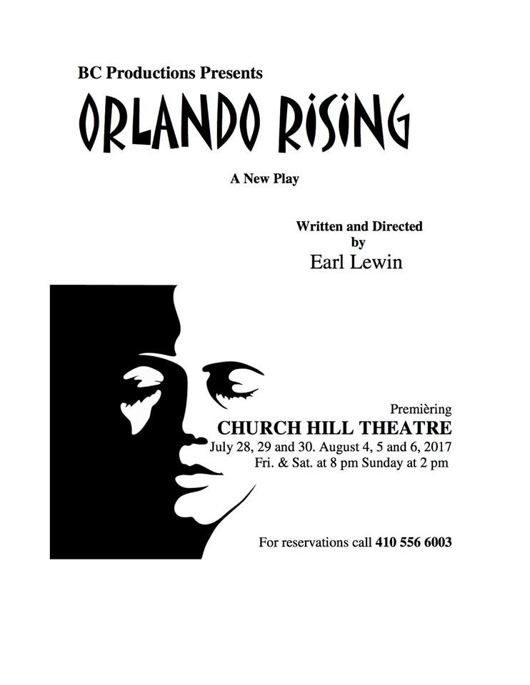 ORLANDO RISING- PLAY BY LOCAL PLAYWRIGHT EARL LEWIN