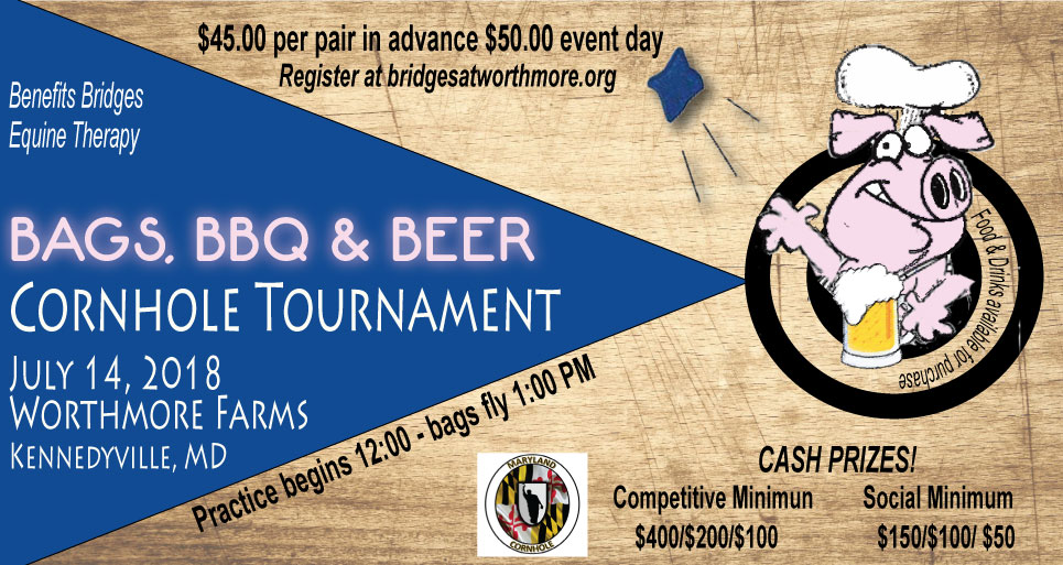 CORNHOLE TOURNAMENT - BAG, BEER AND BARBECUE
