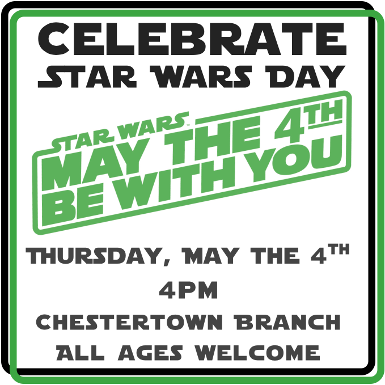 May the Fourth Be With You- Star Wars  Day!