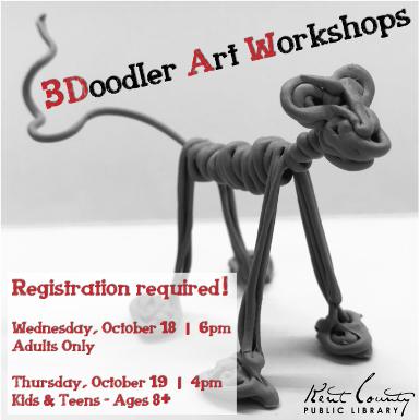 3Doodler Art Workshop for Kids & Teens- Ages 8+