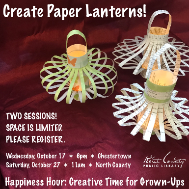 Happiness Hour: Creative Time for Grown-ups. Featured Project: Paper Lanterns