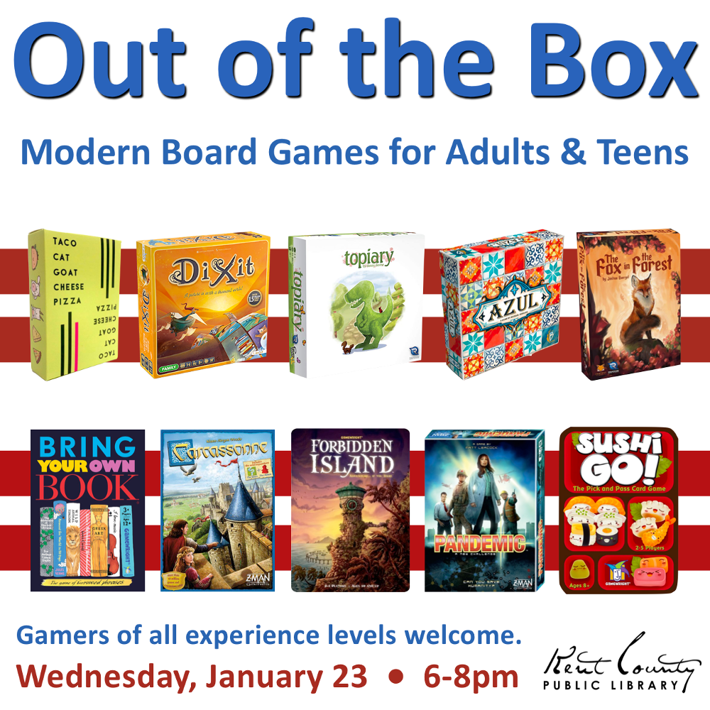 Out of the Box: Modern Board Games for Adults & Teens
