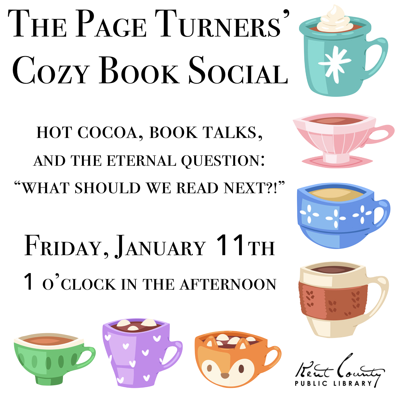 Cozy Book Social Hosted by The Page Turners Book Group
