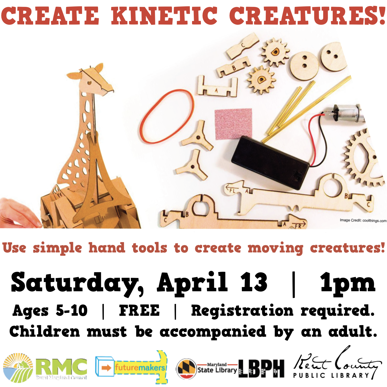 Kinetic Creatures! Presented by Futuremakers