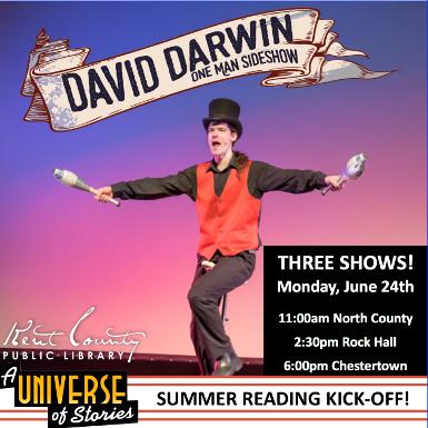 David Darwin-One Man Sideshow in Rock Hall