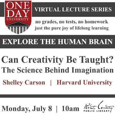 One Day University: Can Creativity Be Taught? The Science Behind Imagination