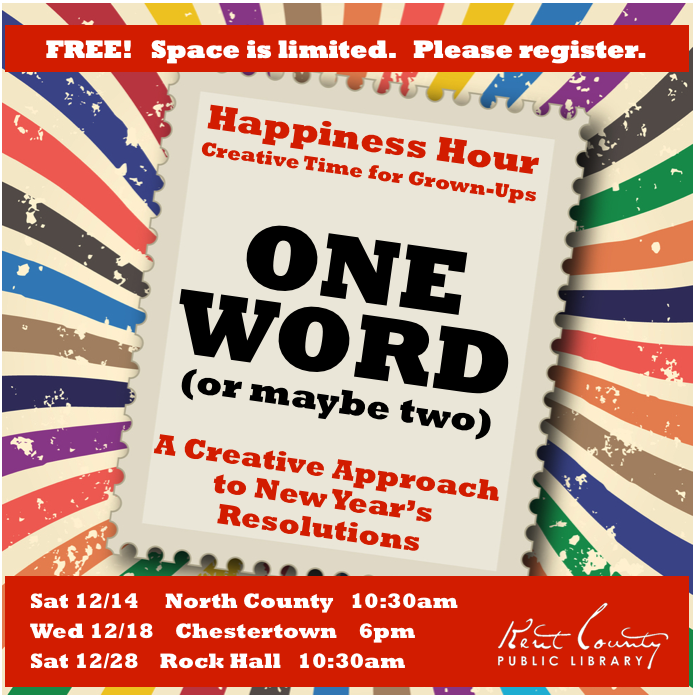 Happiness Hour: Creative Time for Grown-Ups - Creative New Year's Resolutions
